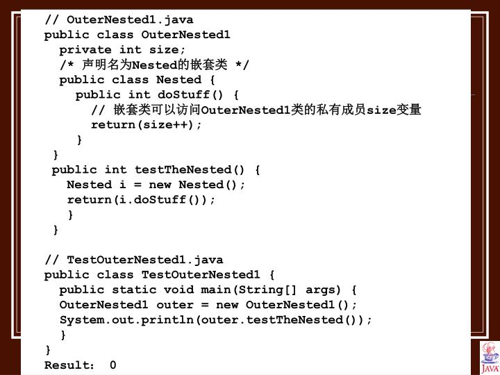 // OuterNested1.java