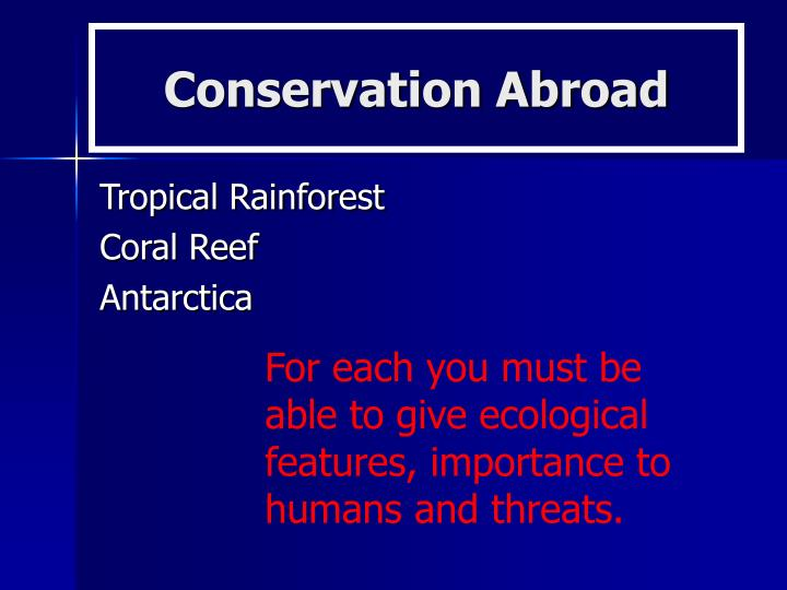 Conservation Abroad
