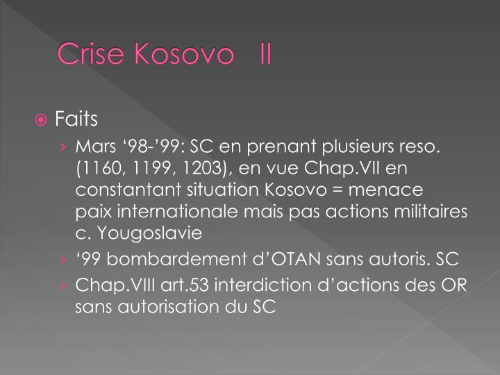 Crise Kosovo   II