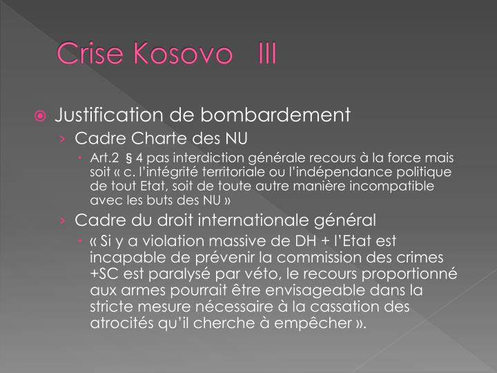 Crise Kosovo   III