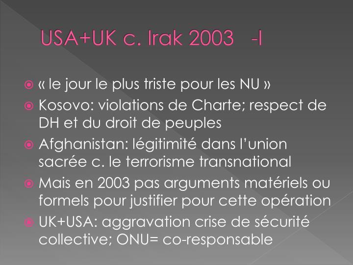 USA+UK c. Irak 2003   -I