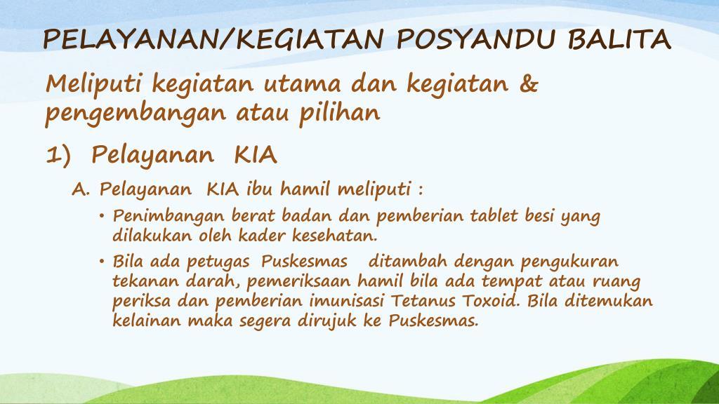 PPT - POSYANDU BALITA PowerPoint Presentation, free ...