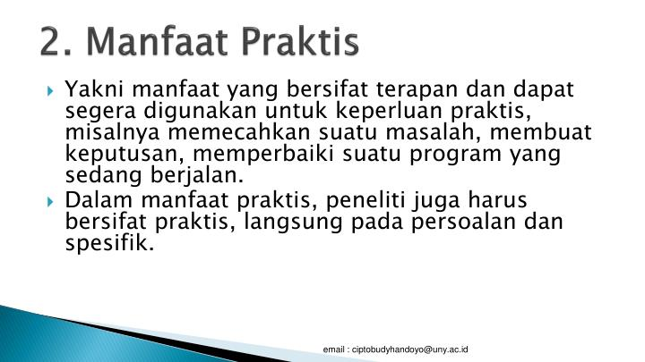 2. Manfaat Praktis