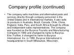 company profile continued1