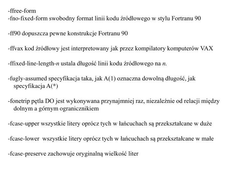 -ffree-form