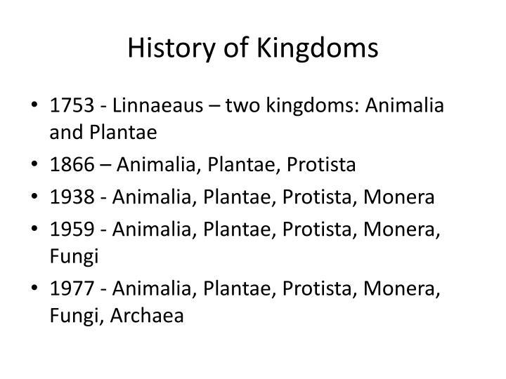 History of Kingdoms