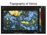 topography of venus
