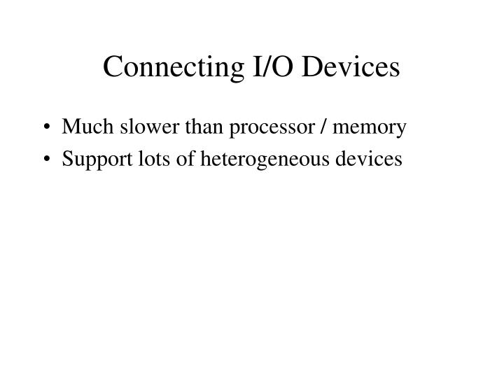 Connecting I/O Devices