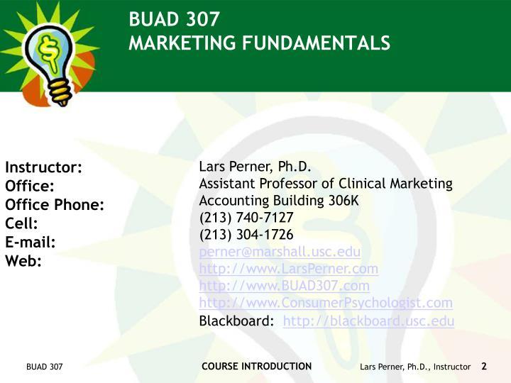 Buad 307 marketing fundamentals