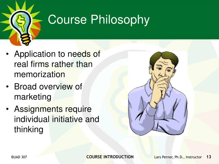 Application to needs of real firms rather than memorization