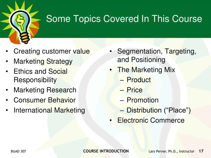 Creating customer value