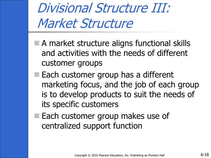 Divisional Structure III: Market Structure