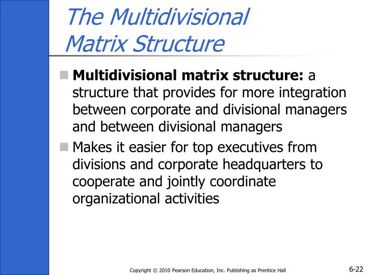 The Multidivisional