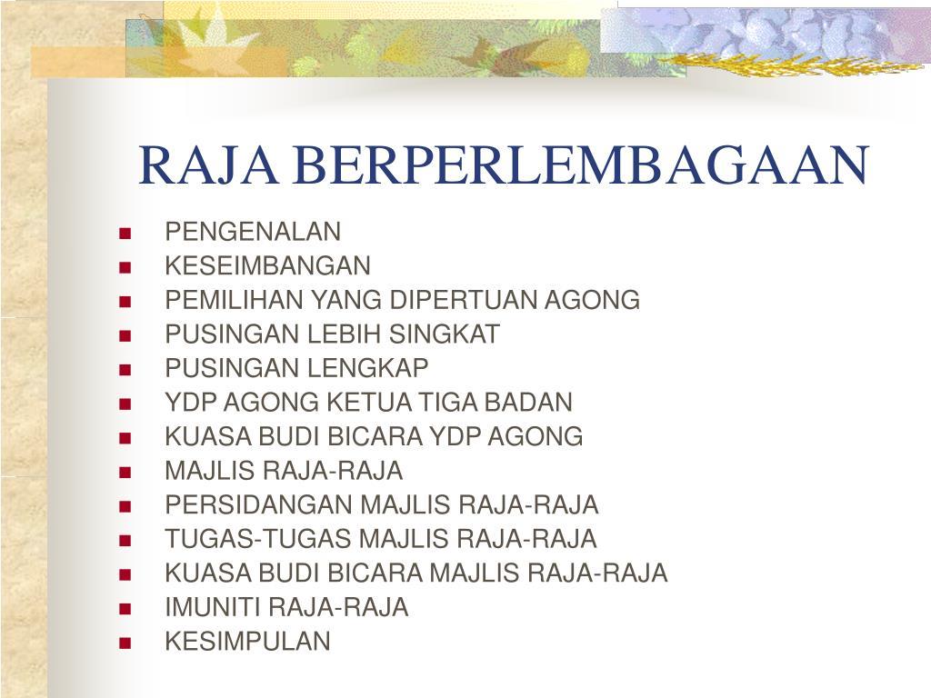 Ppt Raja Berperlembagaan Powerpoint Presentation Free Download Id 3772662