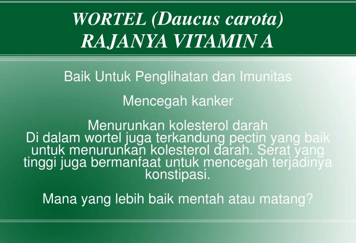 Baik Untuk Penglihatan dan Imunitas