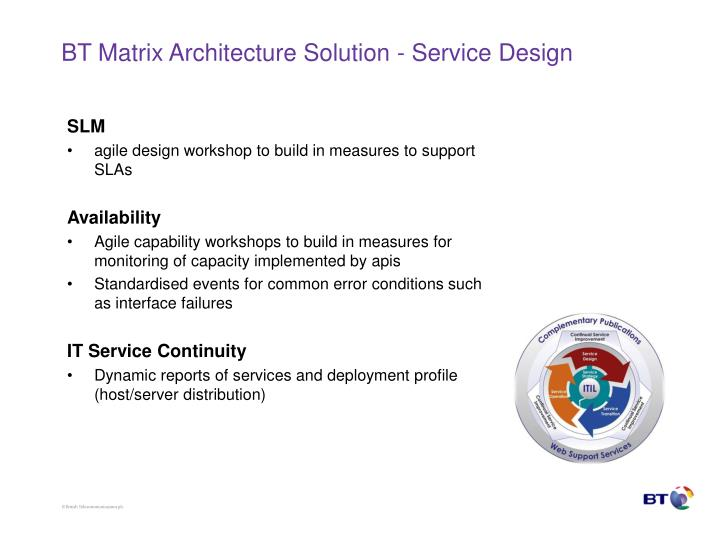 BT Matrix Architecture Solution - Service Design