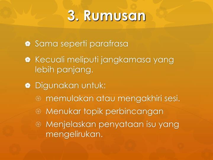 3. Rumusan