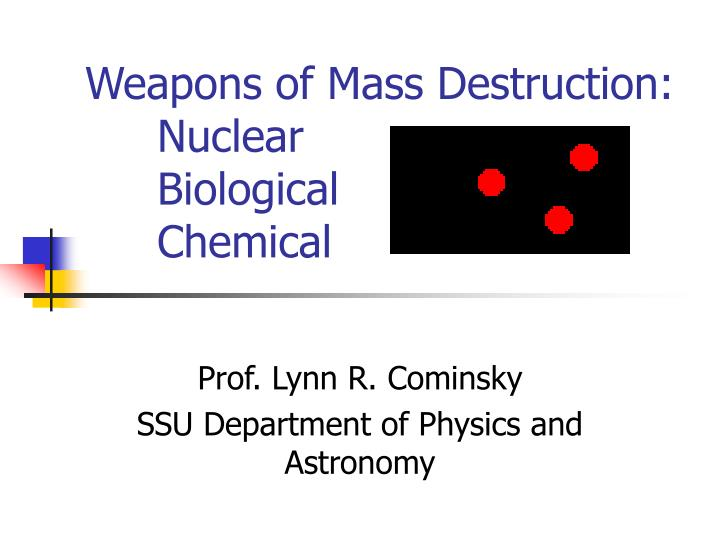 weapons of mass destruction nuclear biological chemical n.