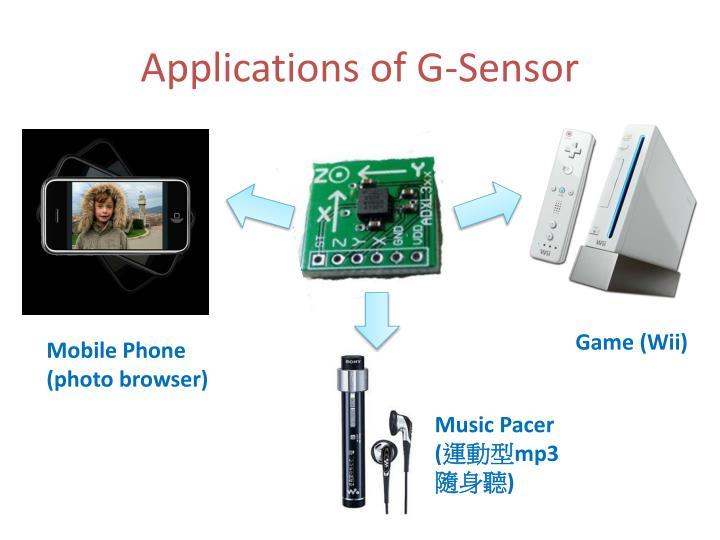 Applications of g sensor