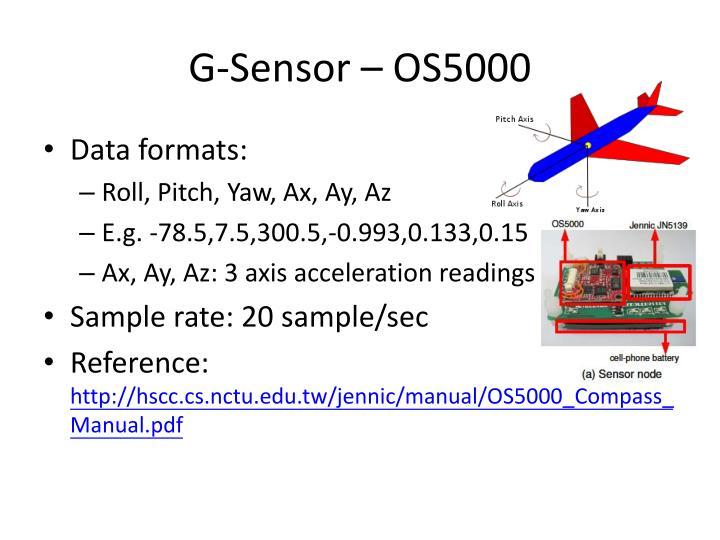 G sensor os5000