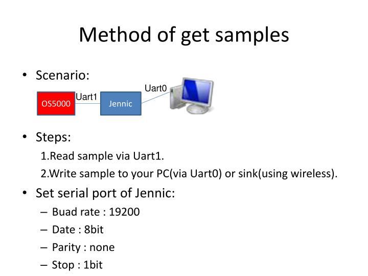 Method of get samples