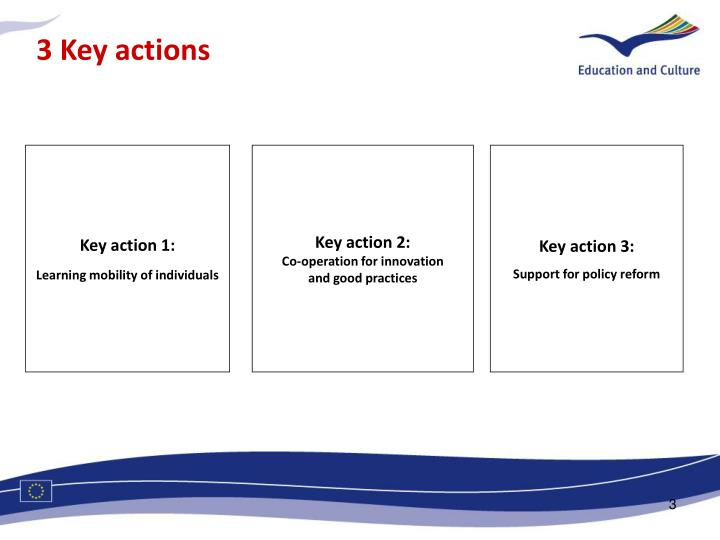 3 Key actions