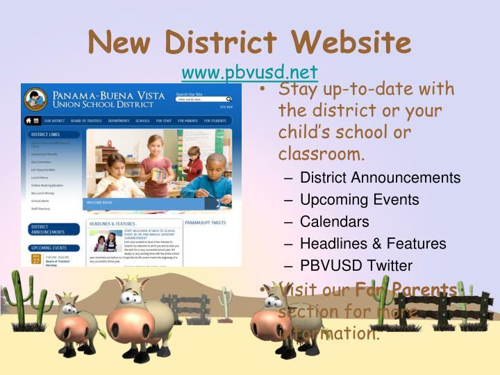 New District Website