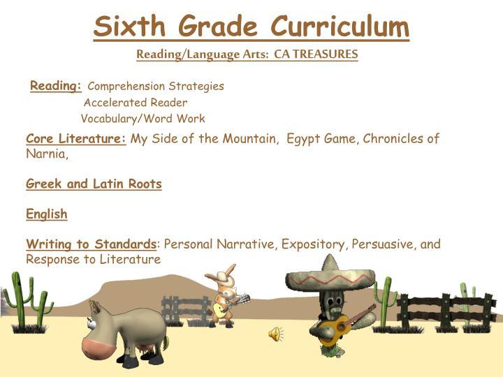 Sixth Grade Curriculum