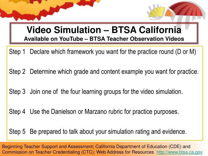 Video Simulation – BTSA California
