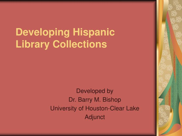 developing hispanic library collections n.