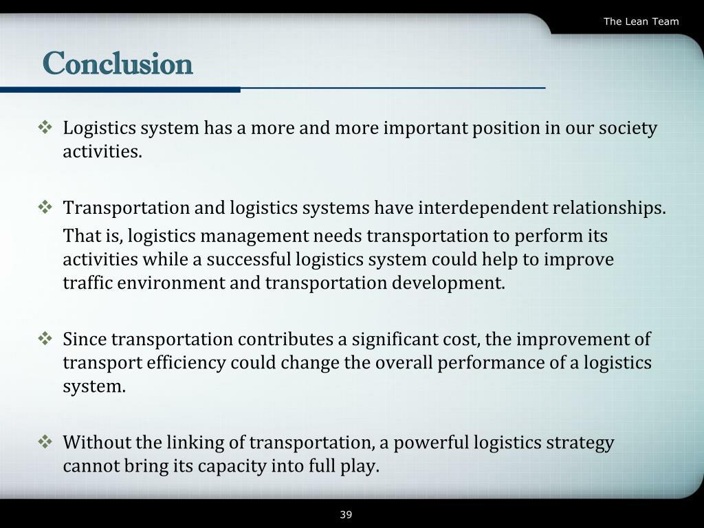 PPT - Transport Logistics PowerPoint Presentation - ID:3773525