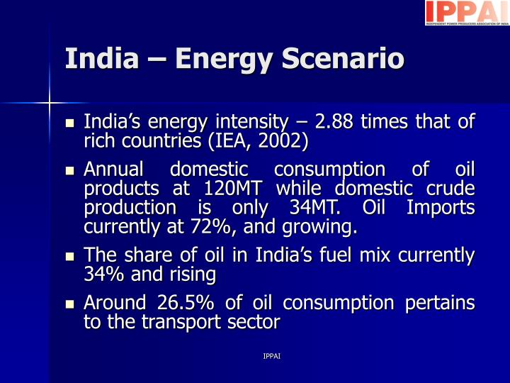 indias energy scenario 12 national energy map for india: technology vision 2030 total energy resources, their distribution  energy scenarios seven alternative scenarios were set up.