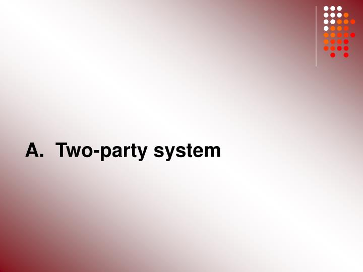 A.  Two-party system