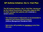 gp asthma initiative the 3 visit plan