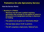 pulmetrics on site spirometry service