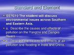 standard and element
