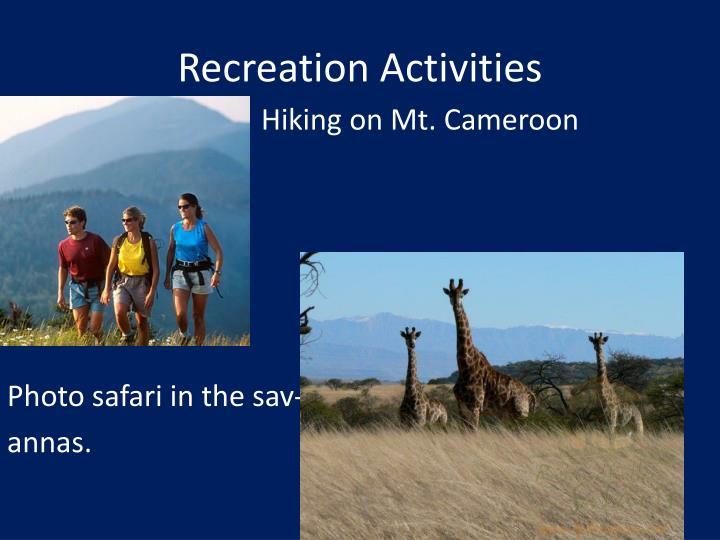 Recreation Activities