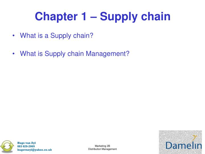 Chapter 1 – Supply chain