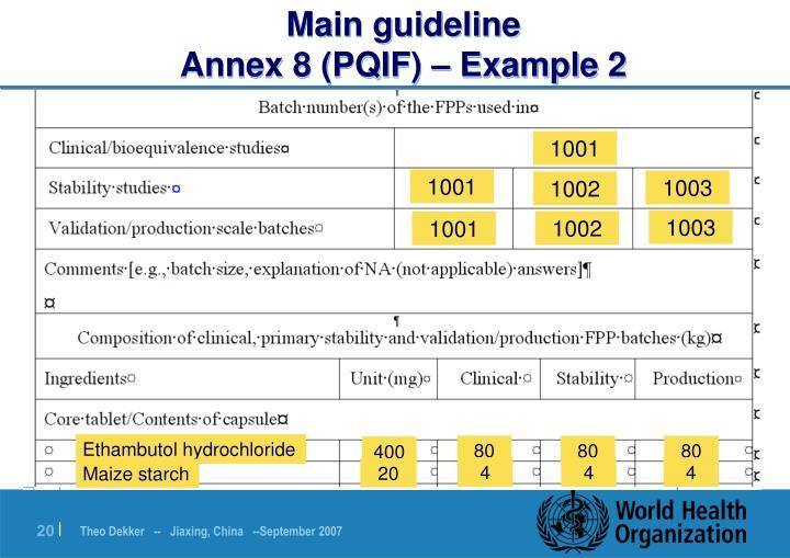 Main guideline