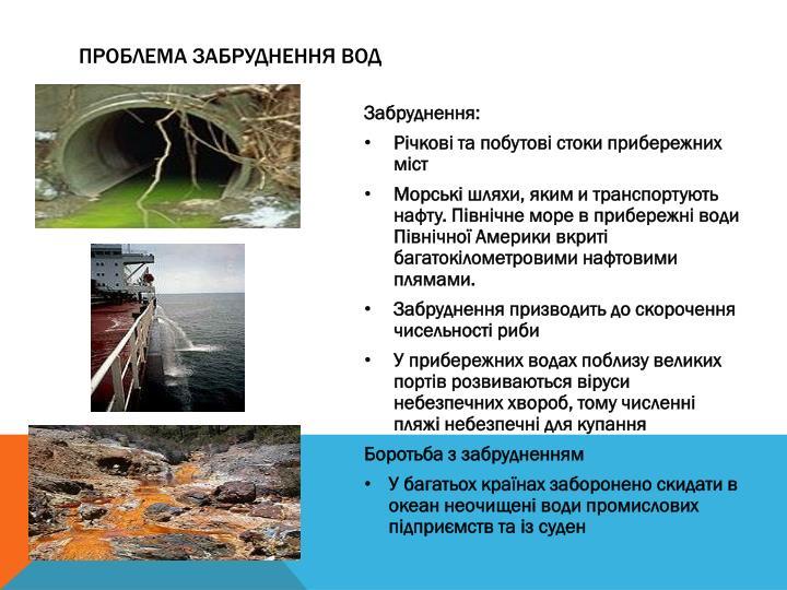 Проблема забруднення вод