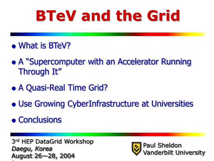btev and the grid