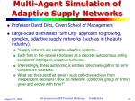 multi agent simulation of adaptive supply networks