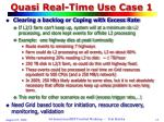 quasi real time use case 1
