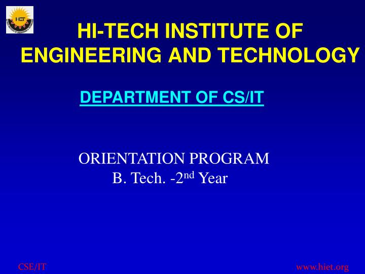hi tech institute of engineering and technology n.