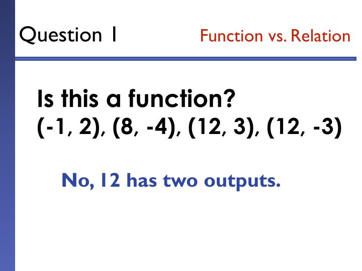 Question 1 function vs relation1