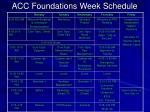 acc foundations week schedule