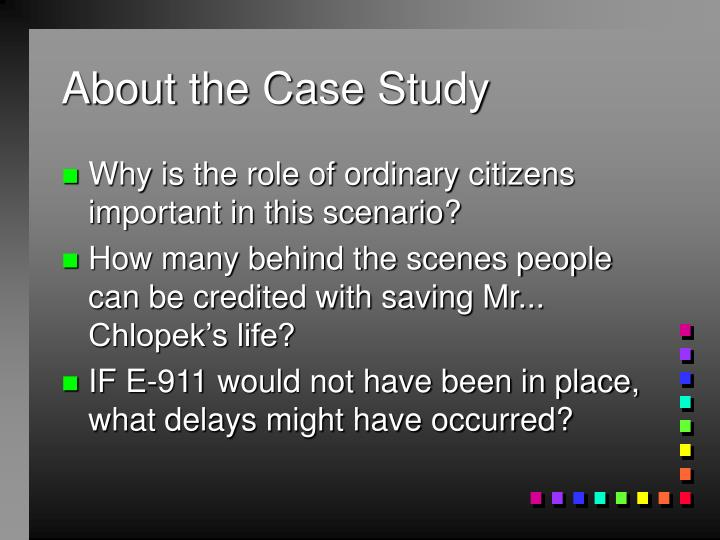 About the case study