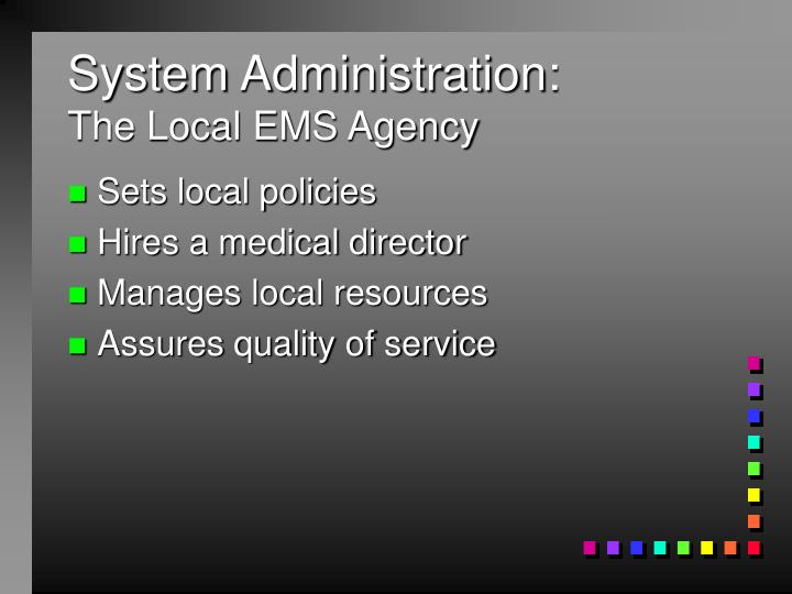 System Administration: