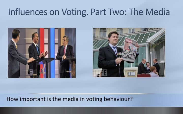 the influence of television in politics Political ads on tv can influence voter decisions using tv to promote a political campaign helps to avoid selective exposure and gains the.