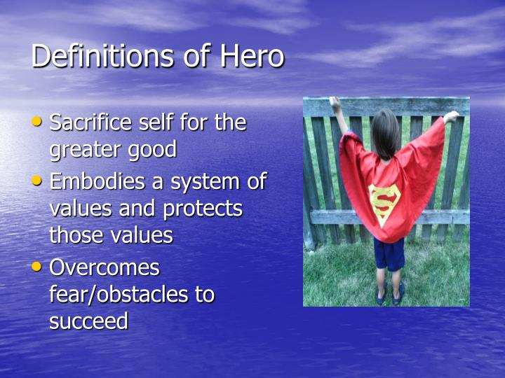 Definitions of hero